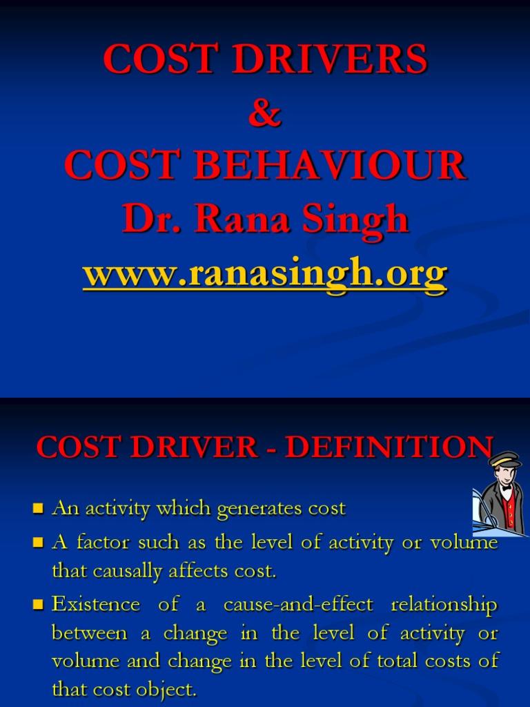 factors affecting cost behaviour