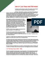 The Evolution of Log Analysis Methods
