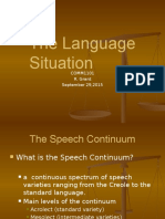 The Language Situation COMM1