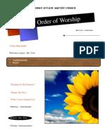 Order of Worship 05 16 2010 v1