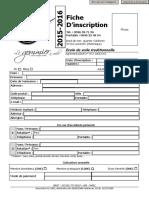 Formulaire Fiche Inscription AGT