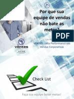 Checklist Gestão de Vendas B2B Ventes Alta Performance Em Vendas Corporativas