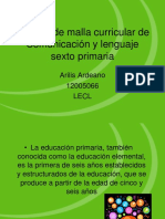 Análisis de Malla Curricular de Comunicación y Lenguaje PDF