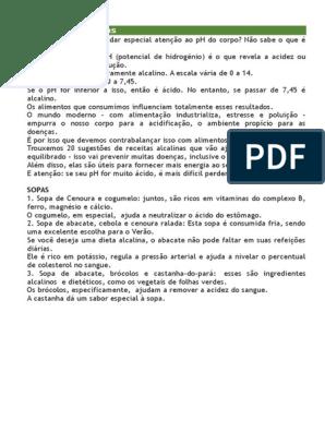dieta alcalina pdf portugues cântarea te face să pierzi în greutate