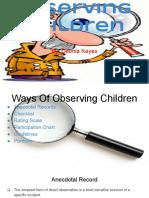 observation slides - deonia keyes