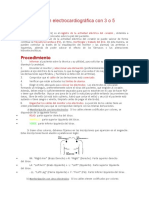 Onitorización Electrocardiográfica Con 3 o 5 Derivaciones