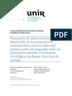 Conciencia Fonológica Mediante Rincones de Trabajo
