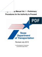 Right of Way Manual Vol. 1 - Preliminary Procedures for the Authority to Proceed