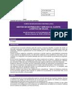 Gestión de Distribución y Servicio Al Cliente- Logística de Salida -C. Arias