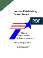 Procedures for Establishing Speed Zones