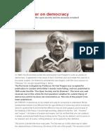 Karl Popper y La Democracia