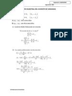 Distribución Muestral Del Cociente de Varianzas Ingenieria
