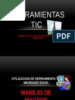 Herramientas Tic Excel Macros