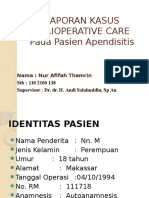 Lapsus 1 Perioperative Care Afifah