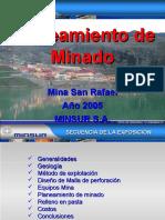 4,0 Plan de Minado San Rafael