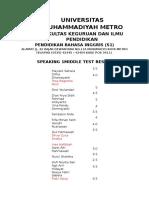 universitas muhammadiyah metro - pbi um metro - dedy subandowo speaking 1