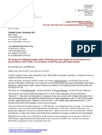 08-10-15 Cover Letter to Bet Tzedek - a Los Angeles Jewish Charity, Alejandro Mayorkas, Member of the Board, and Mitchell Kamins - President.
