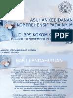 PPT Studi Kasus Asuhan Kebidanan Komprehensif