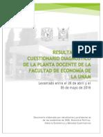 Resultados Del Cuestionario Diagnóstico Economía 2016