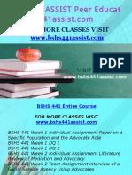 BSHS 441 ASSIST Peer Educator/ bshs441assist.com