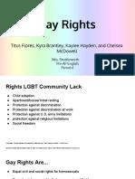9th grade 1st semester research presentation- gay rights