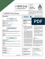 Boletin Oficial de La República Argentina, Agosto de 2010