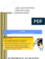 Basic Accounting Concepts and Conventions