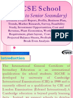 IGCSE School (Nursery to Senior Secondary) - Detailed Project Report, Profile, Business Plan, Trends, Market Research, Survey, Feasibility Study, Investment Opportunities, Cost and Revenue, Plant Economics, Working Capital Requirement, plant layout,  Cost of Project, Projected Balance Sheets, Profitability Ratios, Break Even Analysis