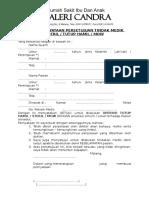 Surat Pernyataan Pertindik Steril Mow