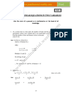 Chapter-3 Pair of Linear Equations