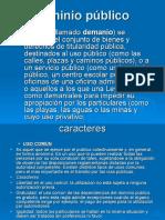Dominio Público (BIENES DEMONIALES)