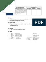 Pembuatan Prosedur Kerja Dan Instruksi Kerja