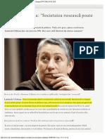 Ludmila Ulițkaia, Societatea Rusească Poate Exploda.