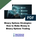 Binary Options Strategies How Make Money in Binary Options Trading