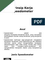 Prinsip Kerja Speedometer