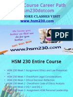 HSM 230 Course Career Path Begins Hsm230dotcom