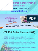 HTT 220 Course Career Path Begins Htt220dotcom