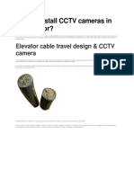 How to Install CCTV Cameras in an Elevator