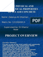 The Physical and Mechanical Properties of Fly Ash Concrete