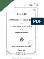 Cuadro Organización Ejército Español en Ultramar (1866)