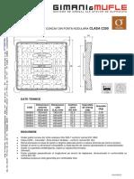 Fisa Tehnica Gratar Concav Fonta C250