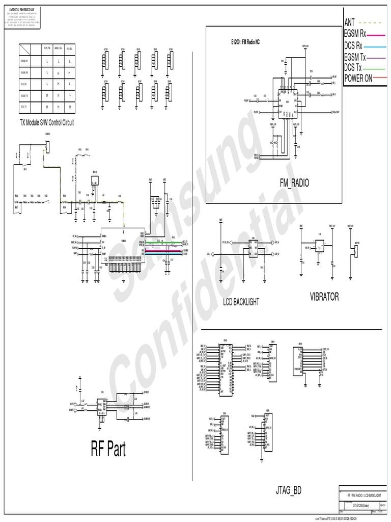 Samsung GT-E1200 Schematics