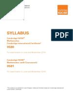 IGCSE Mathematics 2014 Syllabus
