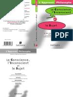 La Conscience l Inconscient Et Le Sujet