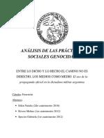 Entre_lo_dicho y Lo Hecho El Camino No Es Derecho, Análisis de Las Prácticas Genocidas