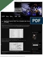 Download Contoh RAB,Time Schedule Dan Kurva S Proyek Teknik Sipil SMKN 3 Kunin
