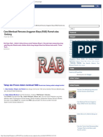 Cara Membuat Rencana Anggaran Biaya (RAB) Rumah Atau Gedung Proyek Sipil