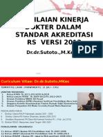 PENILAIAN KINERJA DOKTER DALAM  STANDAR AKREDITASI RS  VERSI 2012.pptx
