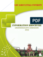 Tnau Ug Admission 2016 Information Brochure