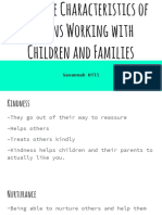 desirable characteristics of persons working with children and families slides - savannah hill